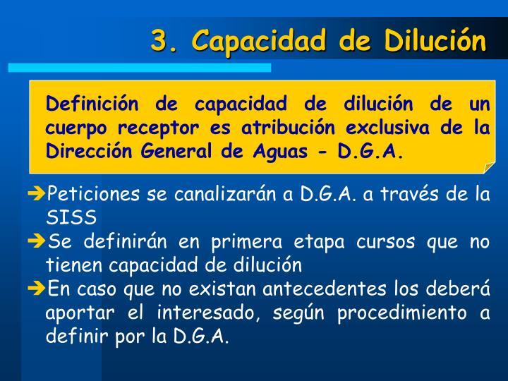3. Capacidad de Dilución