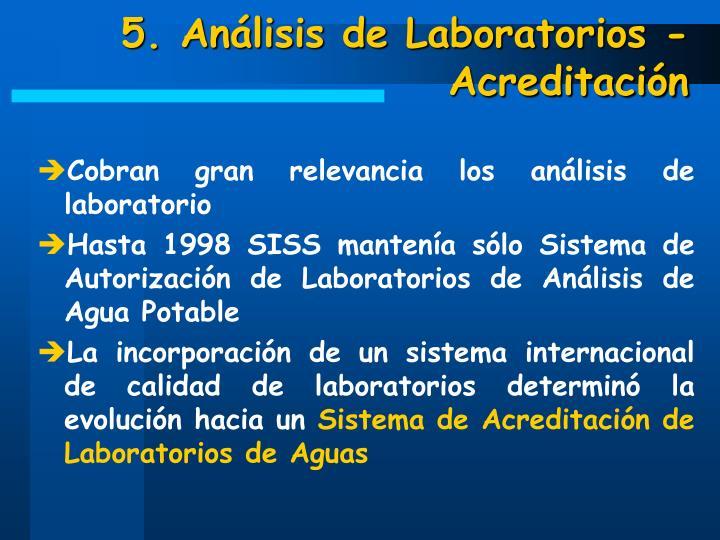 5. Análisis de Laboratorios - Acreditación