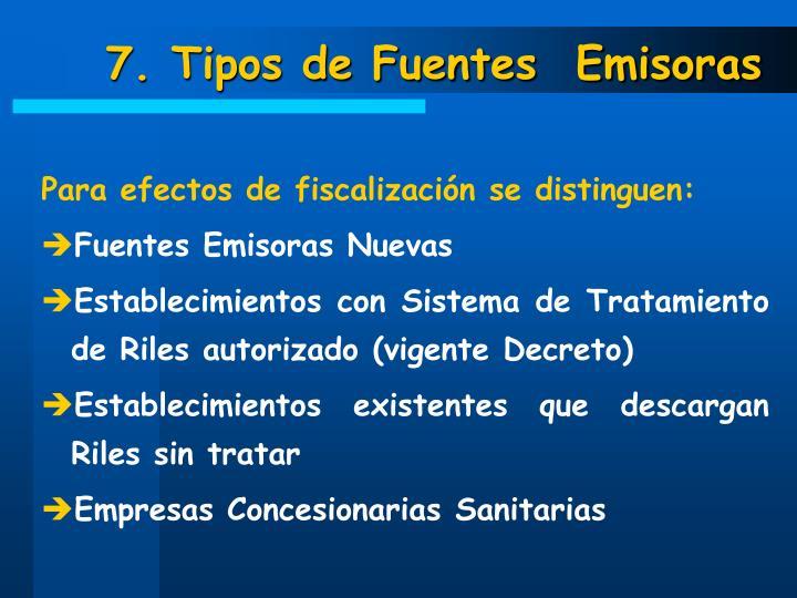 7. Tipos de Fuentes  Emisoras