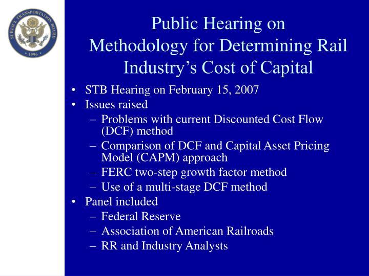 Public Hearing on