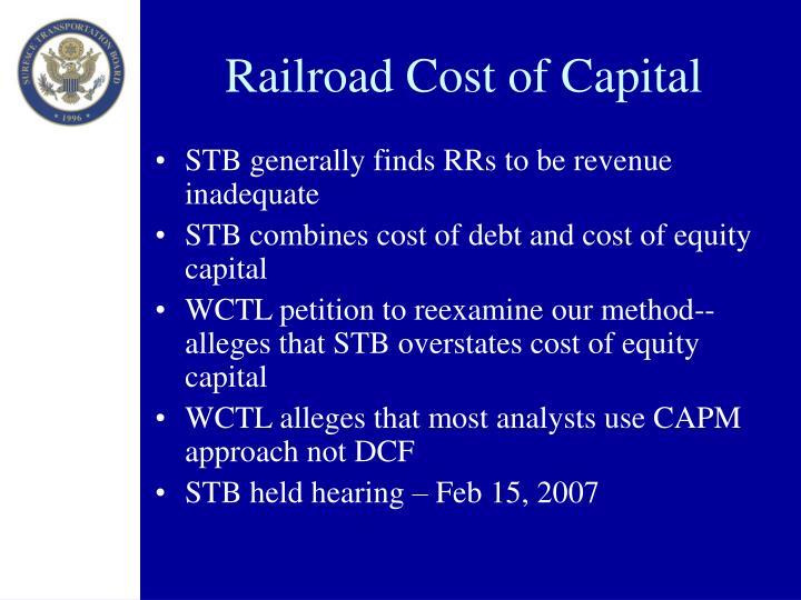 Railroad Cost of Capital