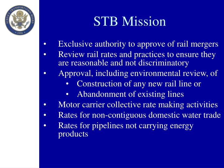 STB Mission