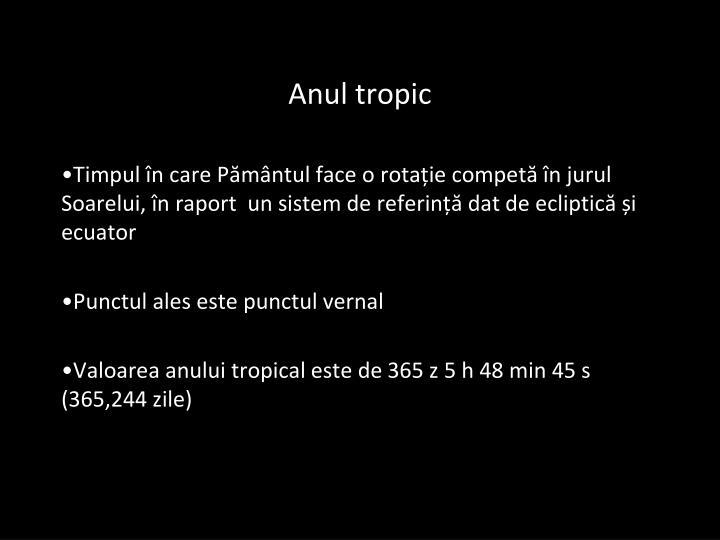 Anul tropic