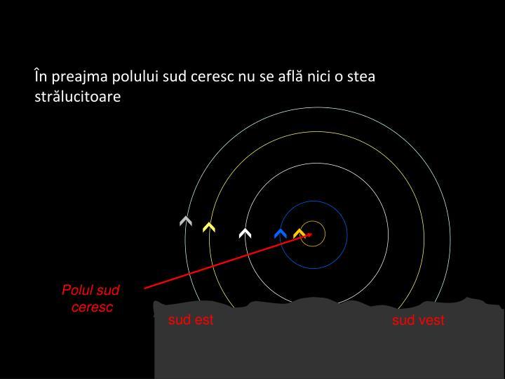 În preajma polului sud ceresc nu se află nici o stea strălucitoare