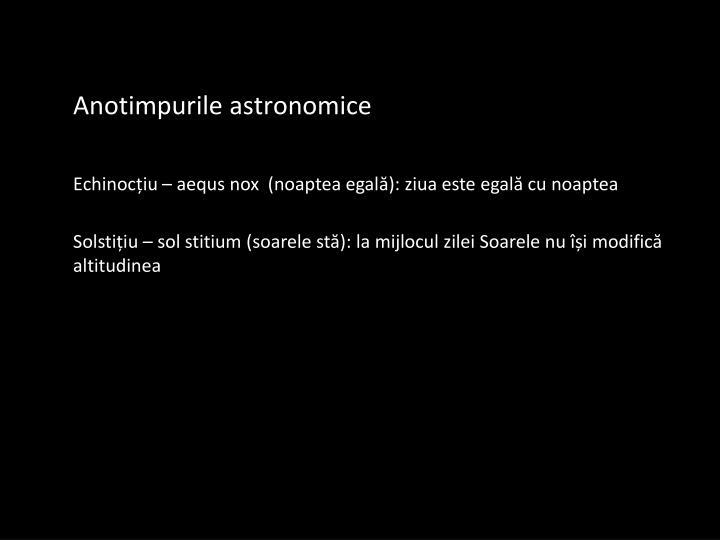 Anotimpurile astronomice