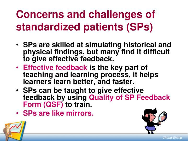 Concerns and challenges of standardized patients (SPs)