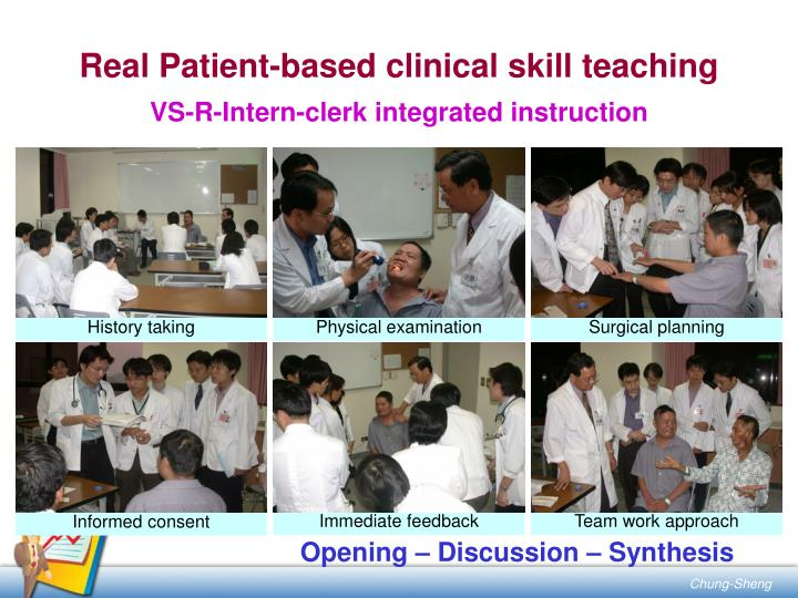 Real Patient-based clinical skill teaching