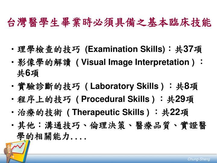 台灣醫學生畢業時必須具備之基本臨床技能