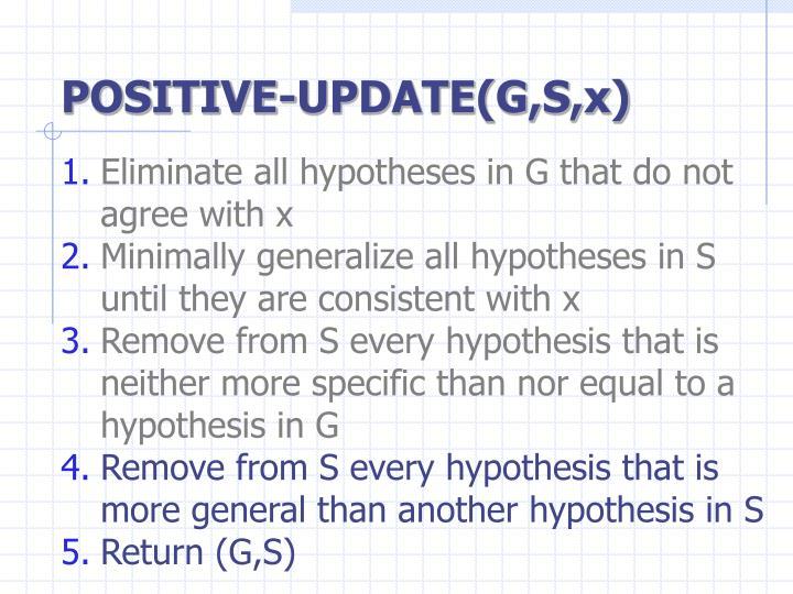 POSITIVE-UPDATE(G,S,x)
