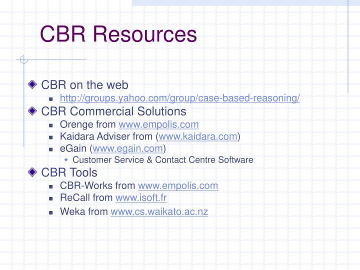 CBR Resources
