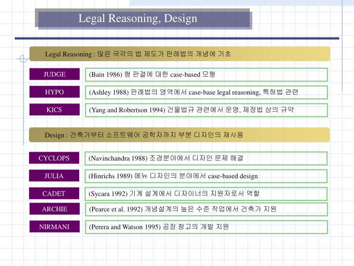 Legal Reasoning, Design