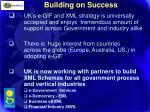 building on success