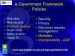 e government framework policies