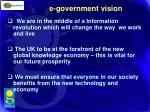 e government vision