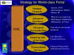 strategy for world class portal
