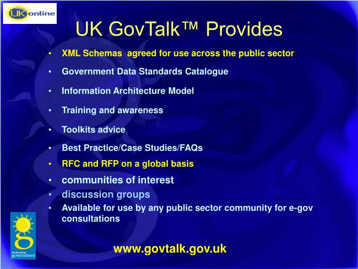 UK GovTalk™ Provides