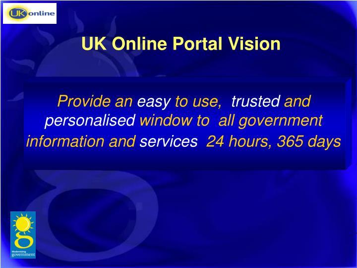 UK Online Portal Vision