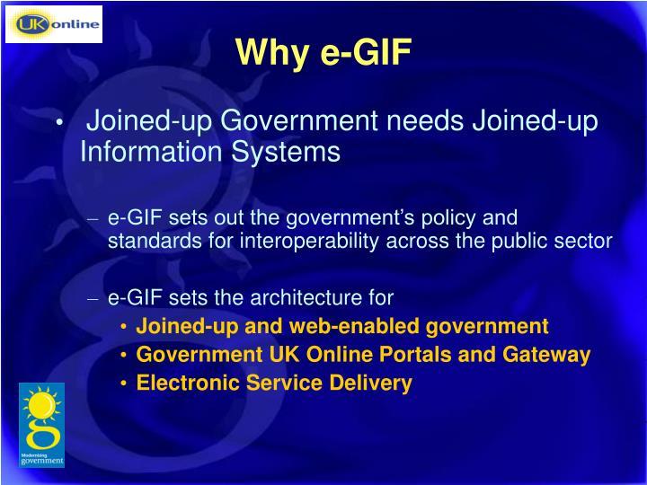 Why e-GIF