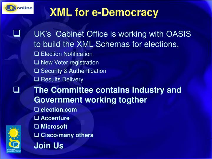 XML for e-Democracy