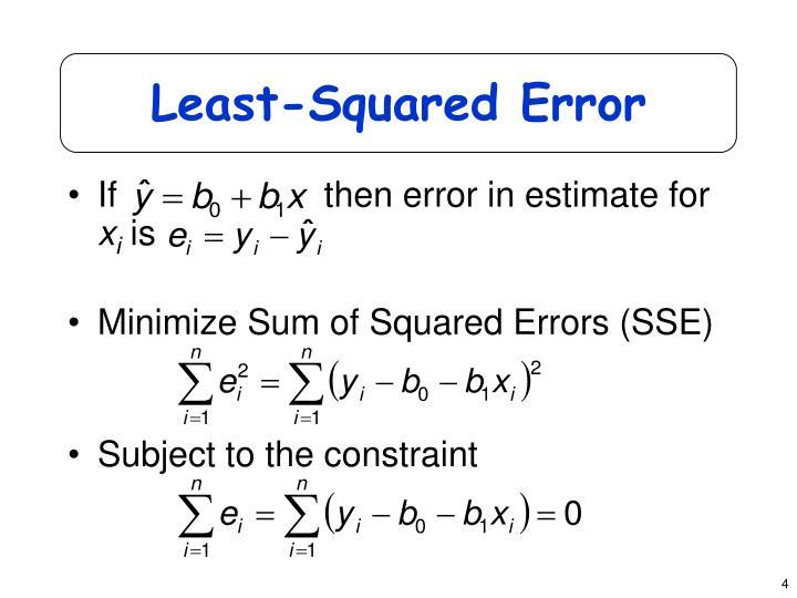 Least-Squared Error