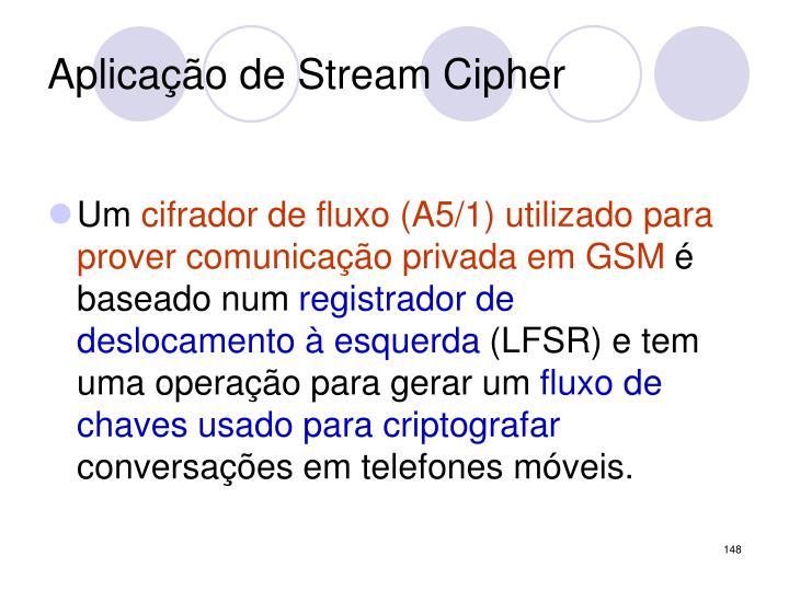Aplicação de Stream Cipher