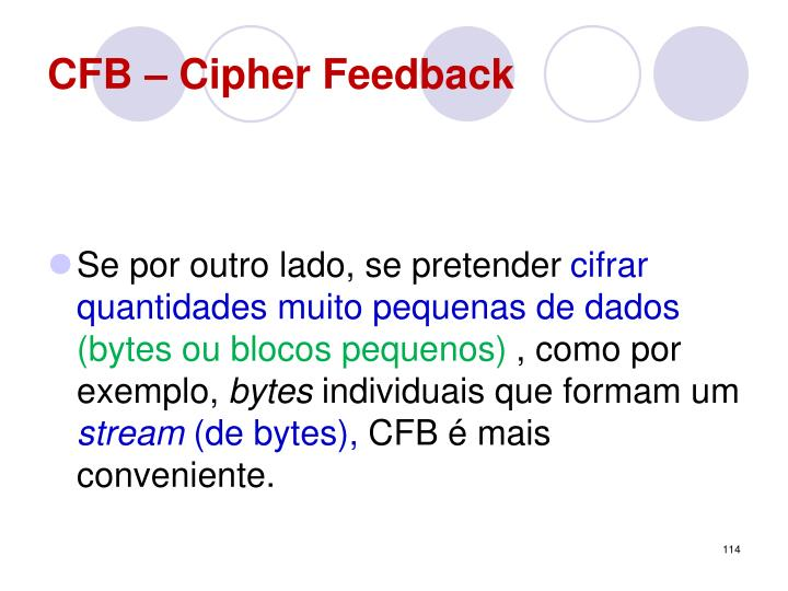 CFB – Cipher Feedback