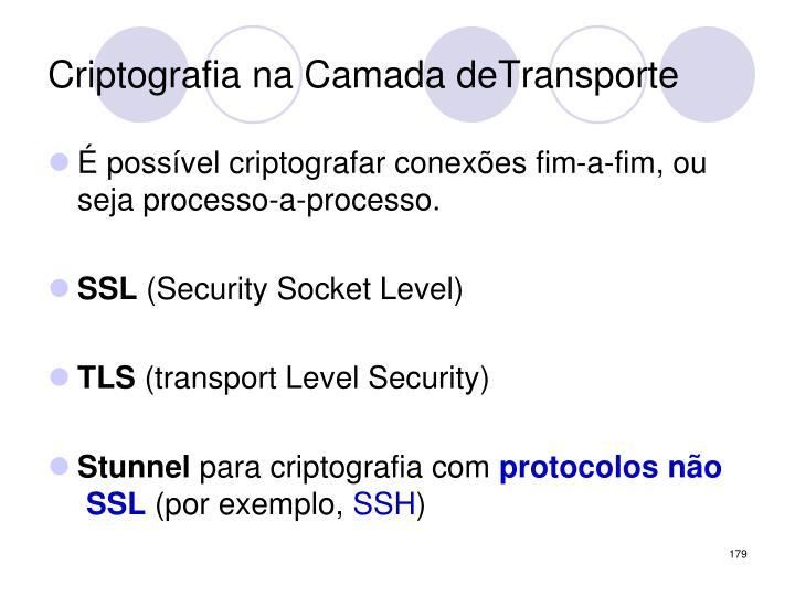 Criptografia na Camada deTransporte