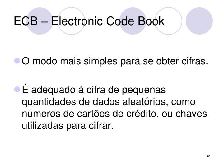 ECB – Electronic Code Book