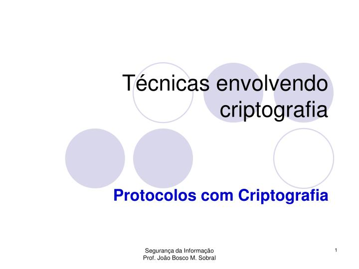 Técnicas envolvendo criptografia