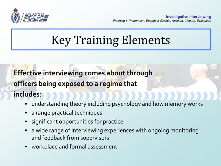 Key Training Elements