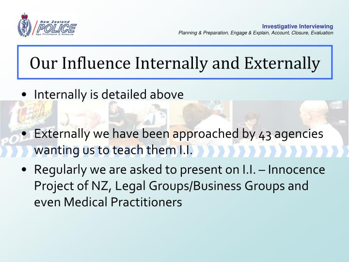 Our Influence Internally and Externally