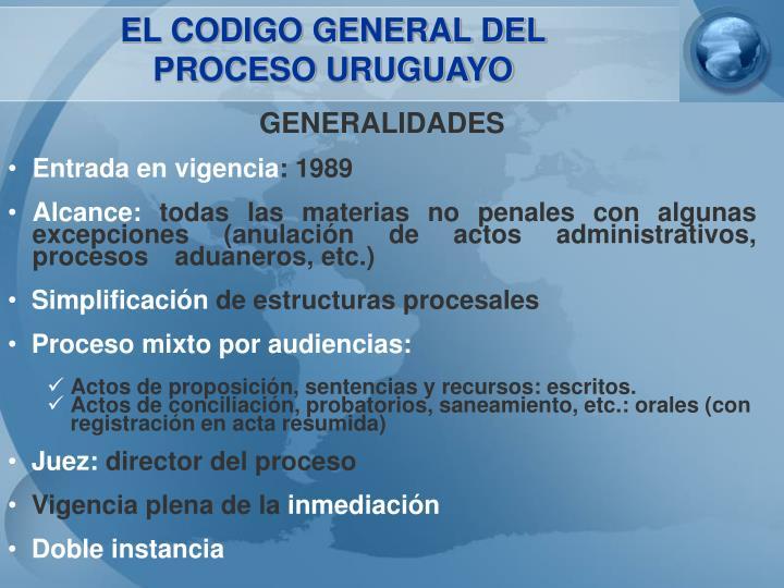 EL CODIGO GENERAL DEL