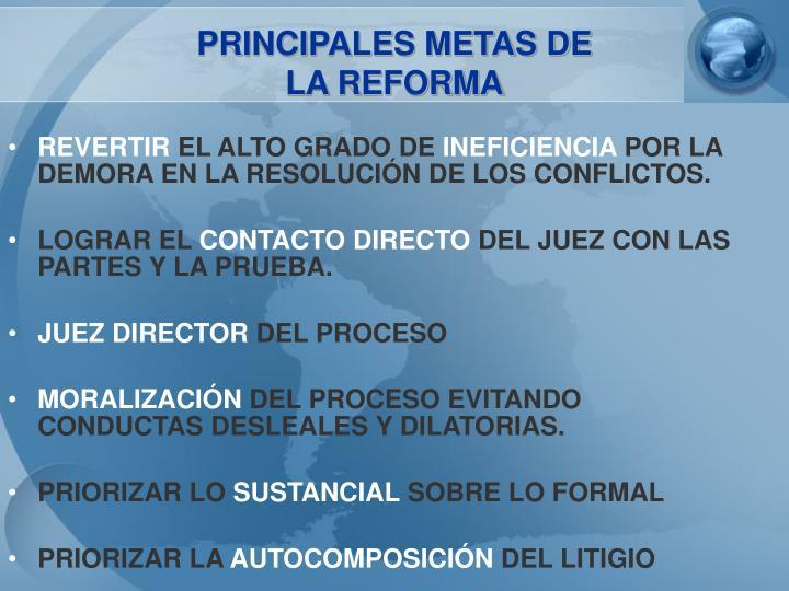 PRINCIPALES METAS DE