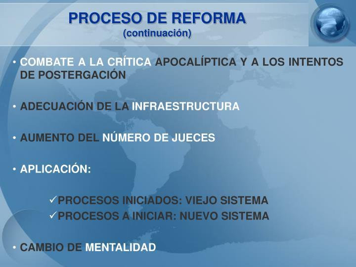 PROCESO DE REFORMA