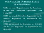 open access in inter state transmission
