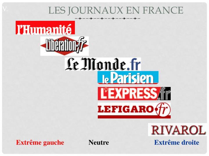 Les journaux en France