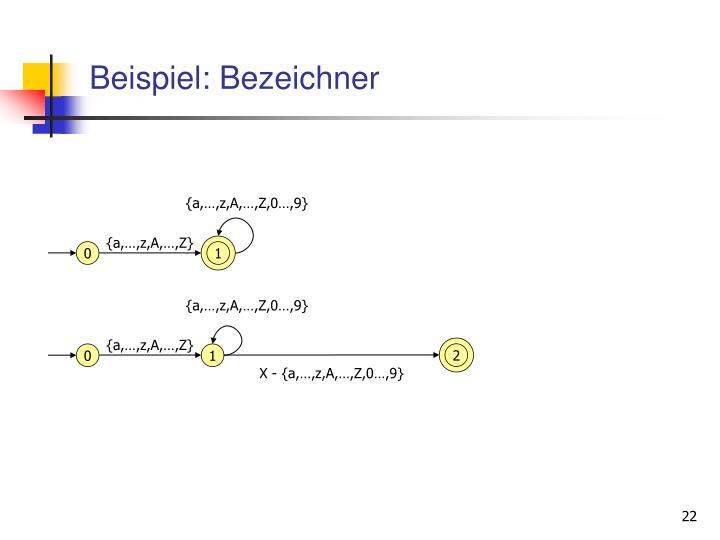 Beispiel: Bezeichner