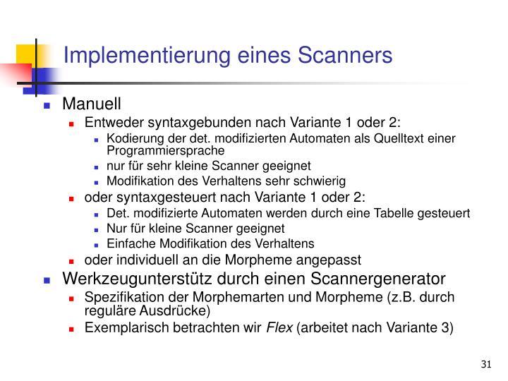 Implementierung eines Scanners