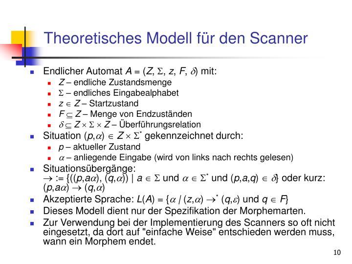 Theoretisches Modell für den Scanner