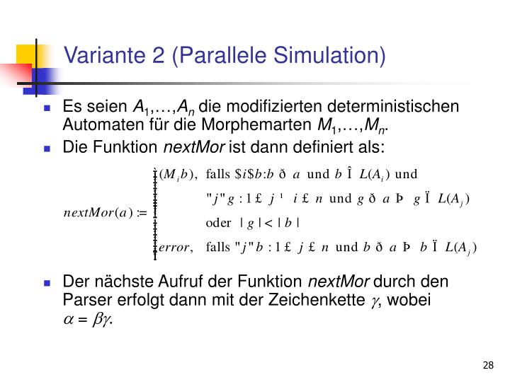 Variante 2 (Parallele Simulation)