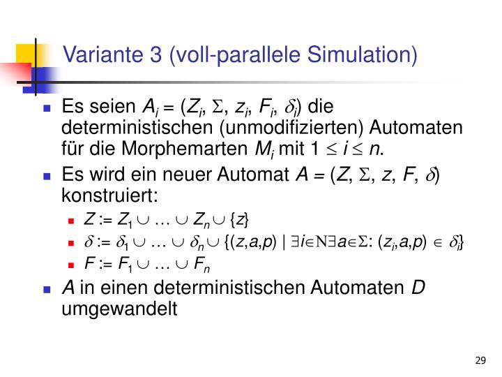 Variante 3 (voll-parallele Simulation)