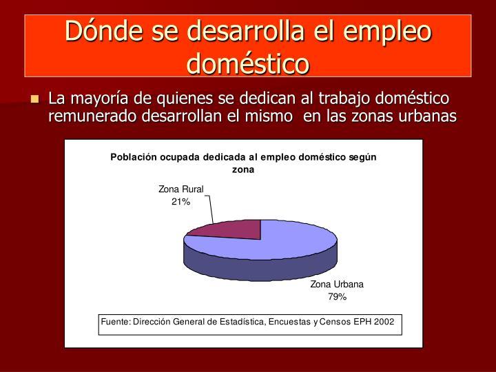 Dónde se desarrolla el empleo doméstico