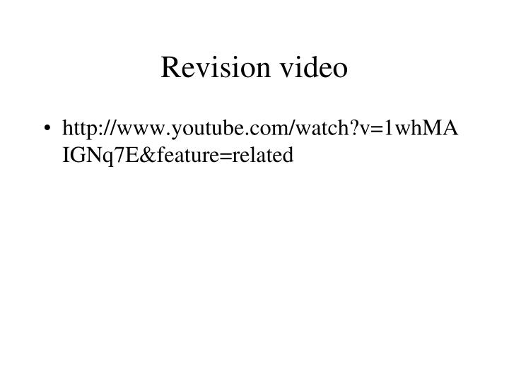 Revision video