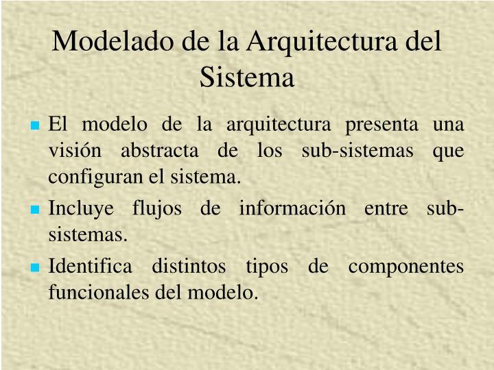 Modelado de la Arquitectura del Sistema