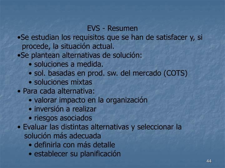 EVS - Resumen