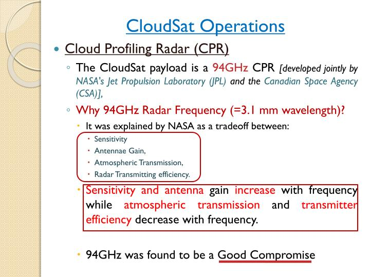 CloudSat Operations