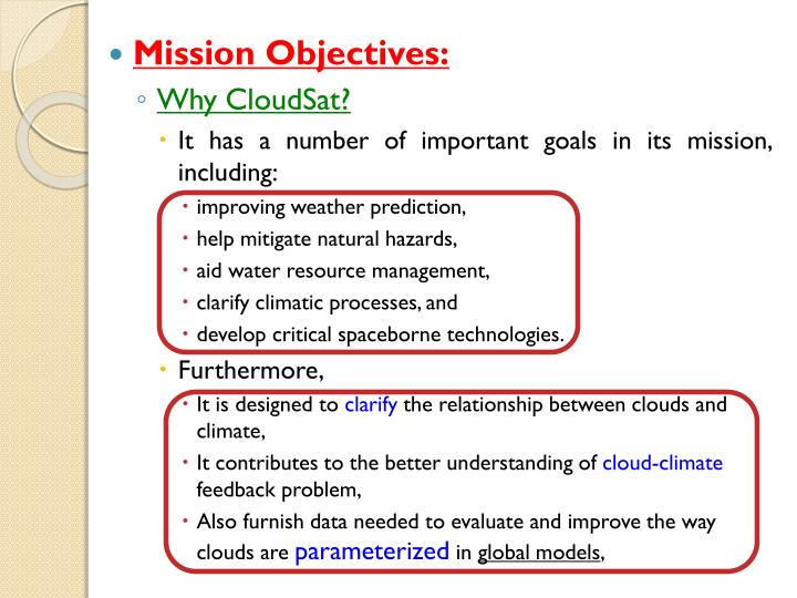 Mission Objectives: