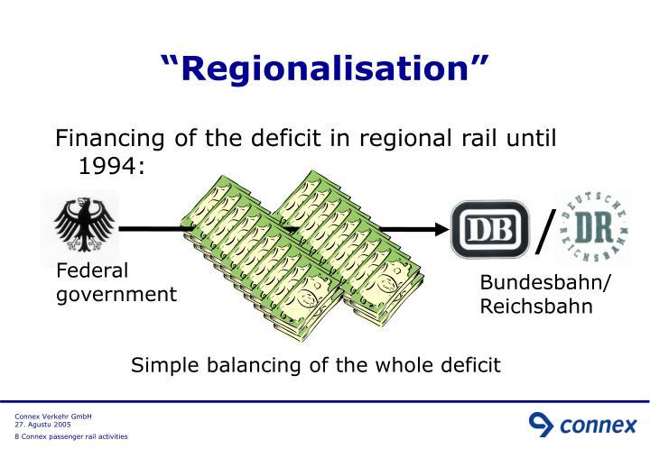 """Regionalisation"""