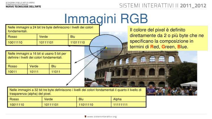 Immagini RGB