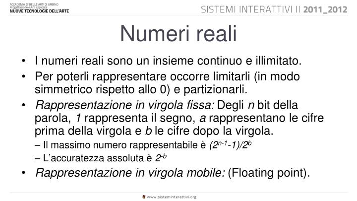 Numeri reali